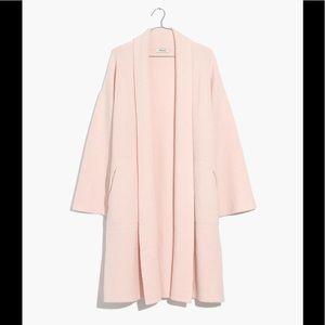 madewell rivington sweater coat heather peony XXS